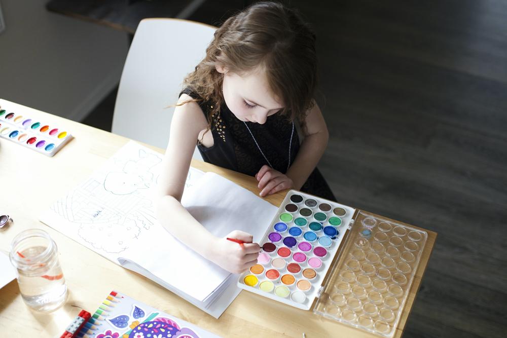 The Seven Best Homeschool Art Supplies - great for minimalist homeschooling