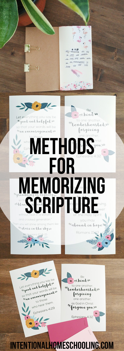 Methods for Memorizing Scripture - A few techniques we use in our homeschool for memorizing Bible verses