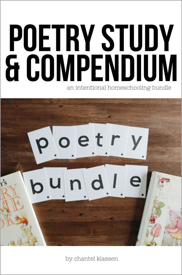 Poetry Compendium & Study Bundle - all you need to know for incorporating poetry into your homeschool