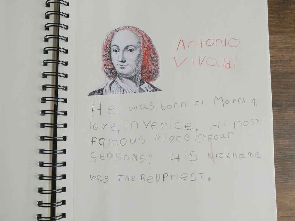 Antonio Vivaldi Composer Unit Study