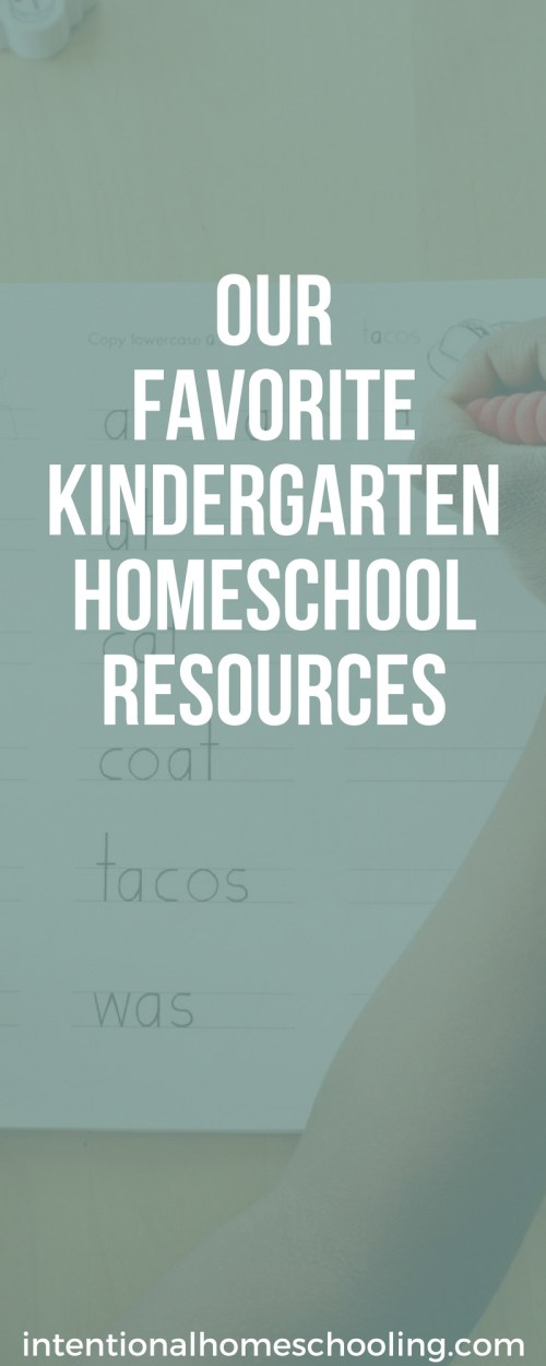 Our Favorite Kindergarten Homeschool Resources
