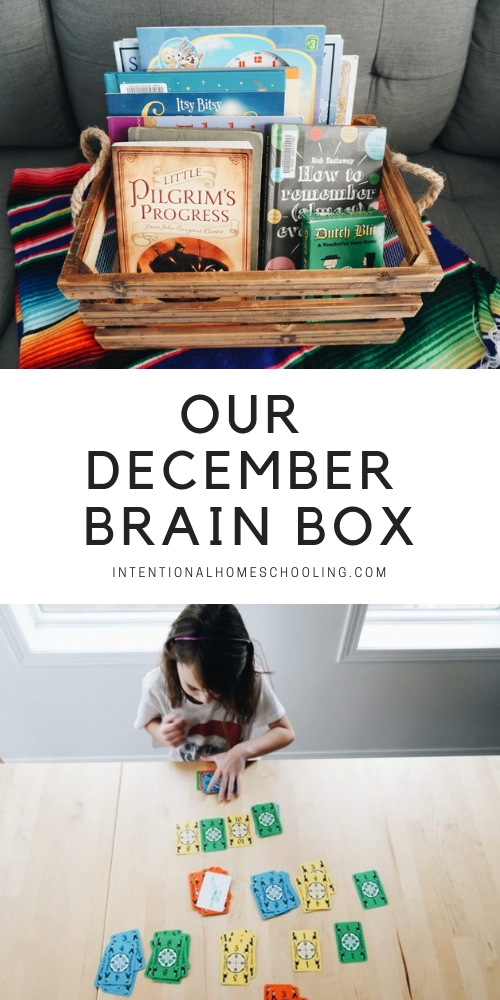 Our December Brain Box - a take on a morning basket