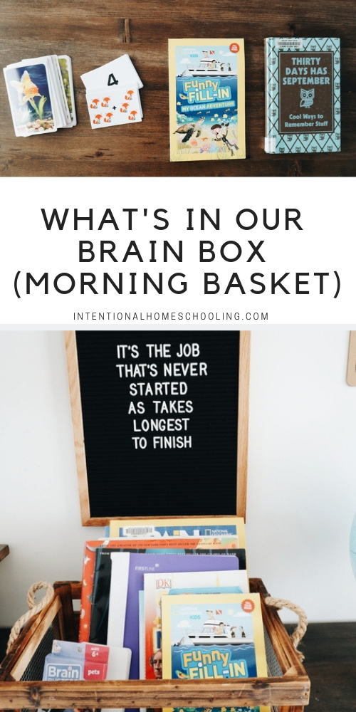 Our January Brain Box - our take on the homeschool morning basket for morning time