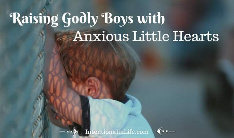 """It's amazing how seemingly """"little"""" challenges can become super-sized anxieties in our little boys' hearts. As they grow into the teen years, hormones only add to the craziness: Dealing with these anxious little hearts of our boys is not for the faint of heart!"""