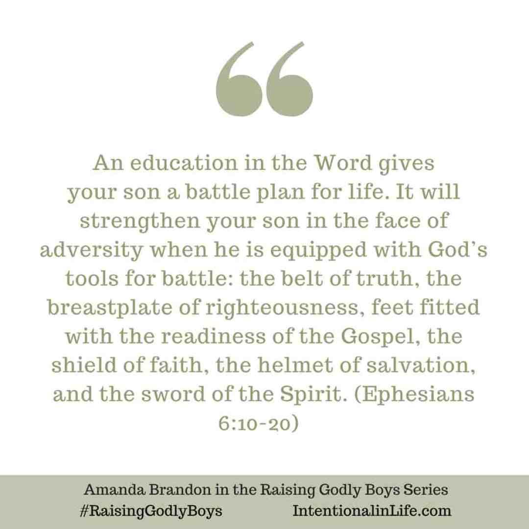 Full Armor of God - Man of Valor Raising Godly Boys