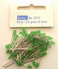 LED Ø 3 mm green approx. 50 pieces