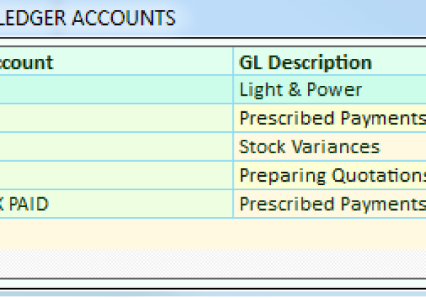 General Ledger – Search