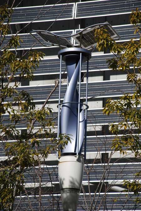 wind powered streetlights