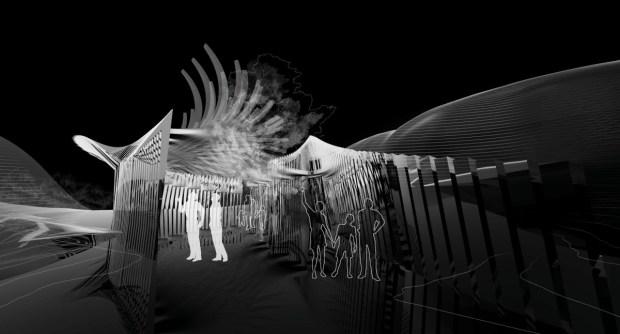 Concept view through pavilion