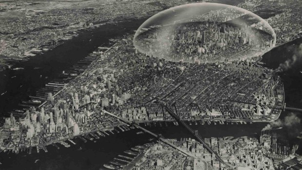 Buckminster Fuller's Proposal of a Protective Dome over Manhattan