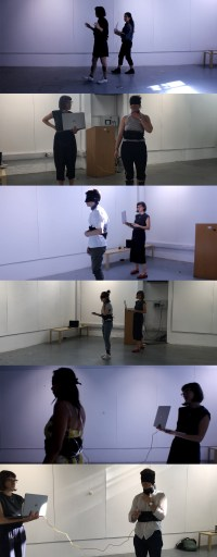 Figure 17 A Series of Photographs of Participants while testing Sarotis