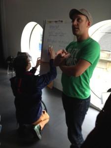 Brett Gaylor & Philo taking notes
