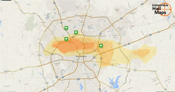 Hail Map for San Antonio, TX February 3, 2012 ...