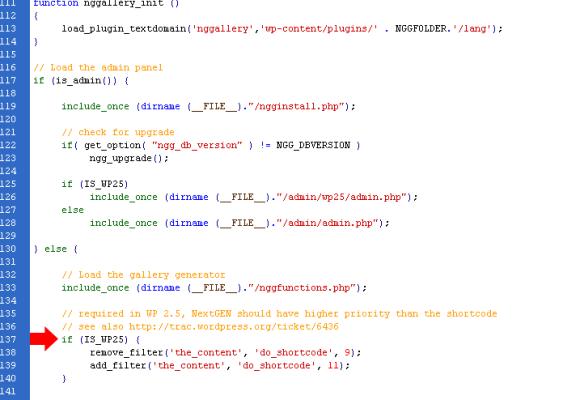 Error en nggallery.php