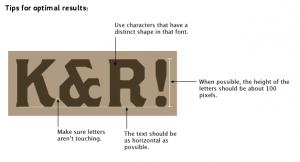 Consejos para facilitar la detección de la tipografía