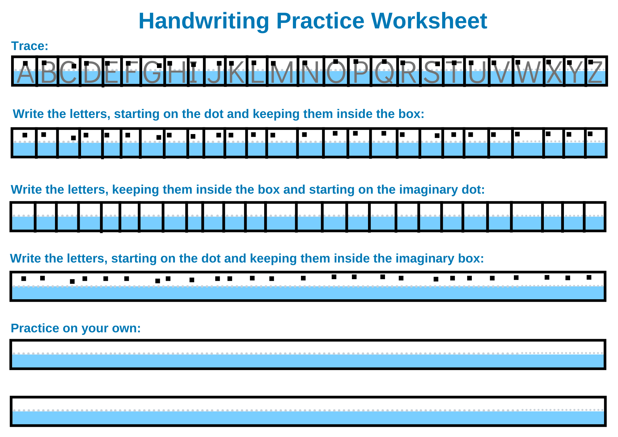 Occupational Therapy Handwriting Practice Worksheet