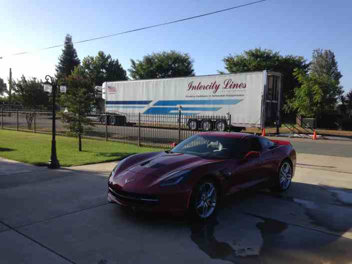 corvette stingray shipped