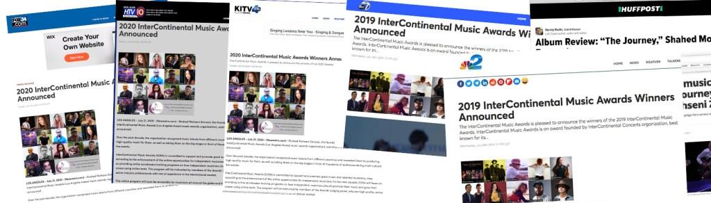 intercontinental music awards in press