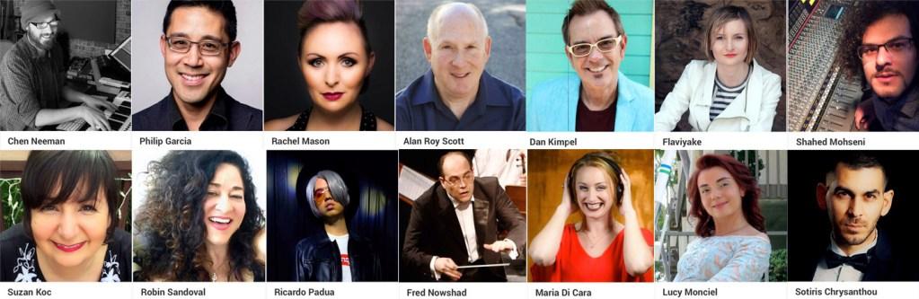 InterContinental Music Awards music judges portraits