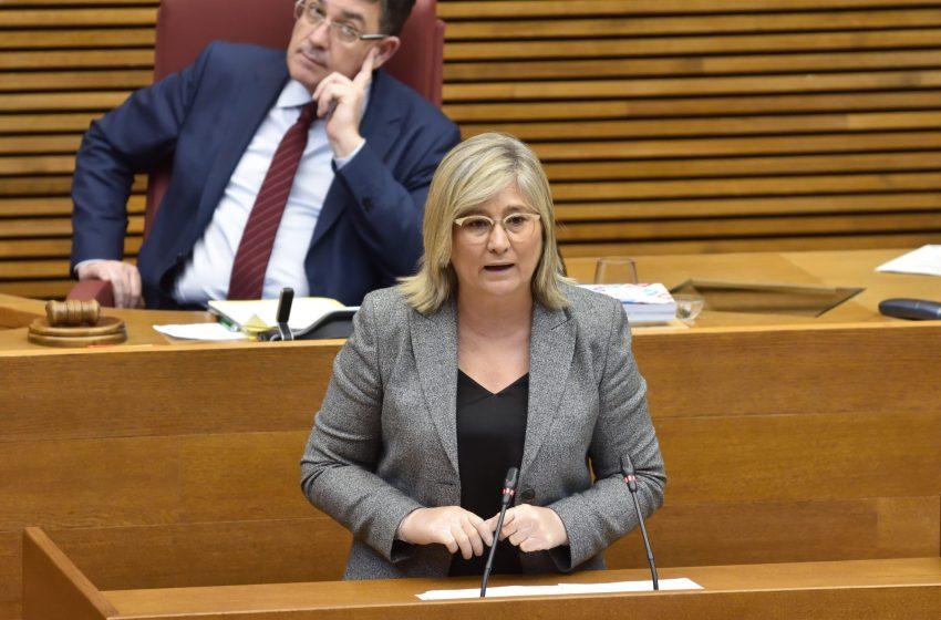 Mamen Peris pide en Les Corts mejorar las conexiones entre Llanera de Ranes y otros municipios de La Costera con Xàtiva