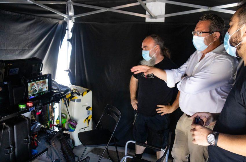 Secun de la Rosa retoma en Benidorm el rodaje de 'El Cover', tras el confinamiento