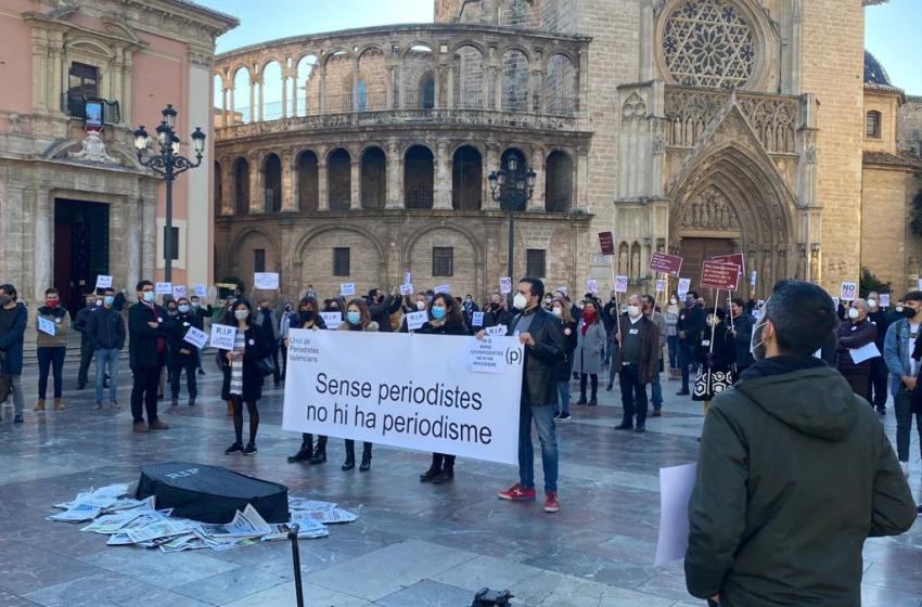La APPV participa junto a la Unió en un acto por la defensa de las condiciones laborales y el futuro del periodismo