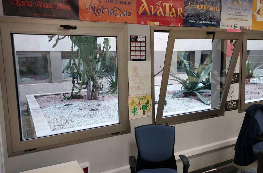 CSIF reclama mosquiteras en la sala de archivos de la Ciudad de la Justicia de Valencia para poder ventilar por covid-19