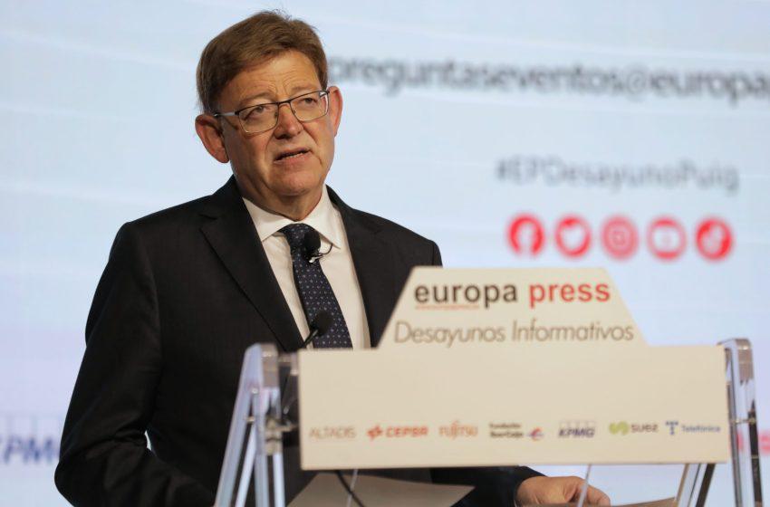 Ximo Puig reclama la reforma inaplazable del sistema de financiación y la descentralización de los organismos del Estado