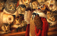 collective nouns parliament of owls