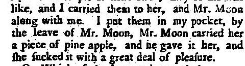 pineapple theft 18th century Mr Moon
