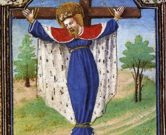 AN EARLY ILLUSTRATION OF SAINT WILGEFORTIS.