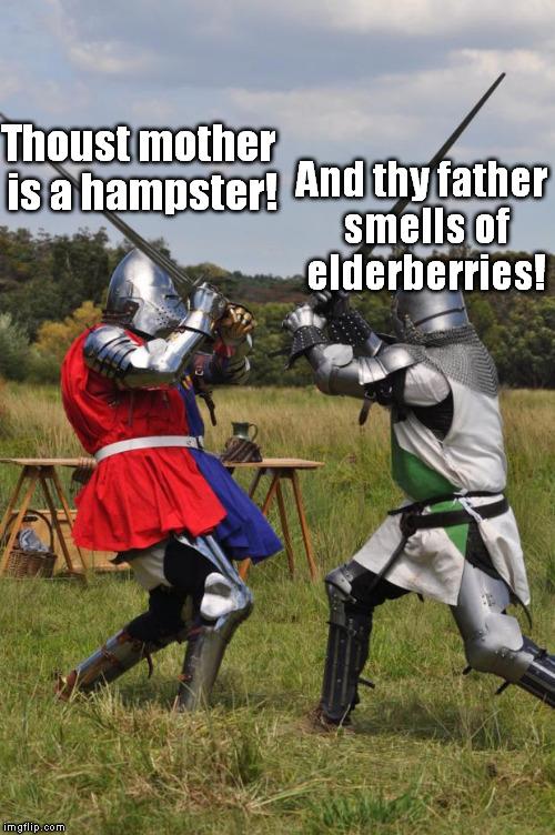 Medieval insult meme. Ribalds