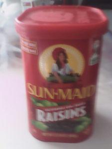 Sun-Maid raisin container