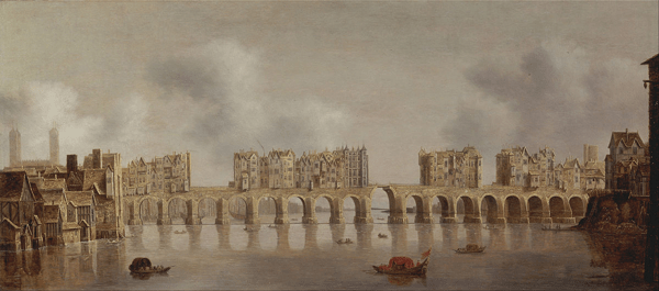 Painting - View of London Bridge by Claude de Jongh