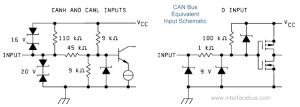 CAN Bus Interface Description IO Schematic Diagrams for
