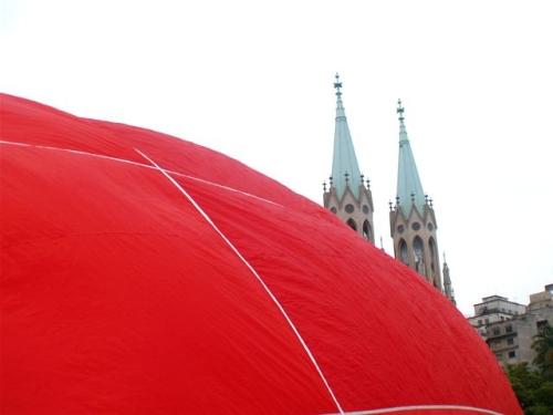 Catedral da Sé e o pin-point gigante