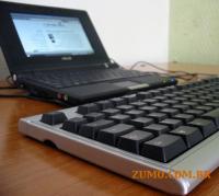 eeePC com um teclado externo