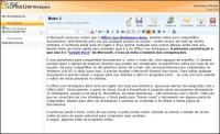 Editor de textos? O Live Workspace permite criar notas em formato texto