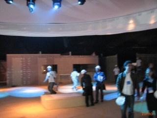 Parte central do evento sendo montada