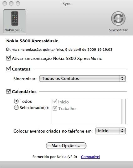 iSync e o 5800