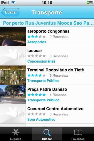 Busca por transportes: principais pontos (ou não)
