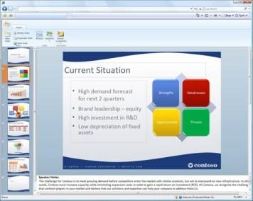 Edição de slides no PowerPoint online