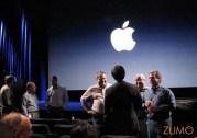 Executivos da Apple conversam antes do keynote