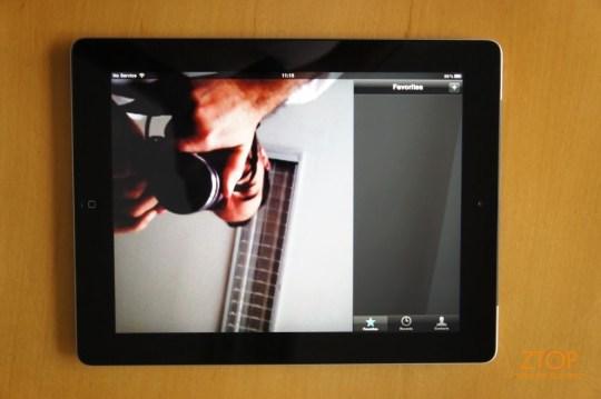 Facetime também é igual ao do iPhone/iPod touch