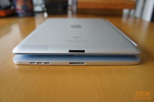 iPad e iPad 2, vistos por trás...