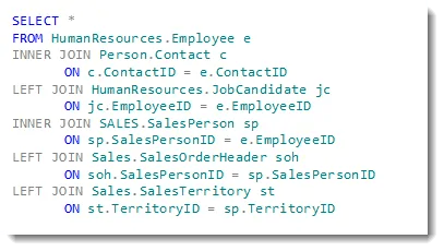 how to join 4 tables in sql 2008
