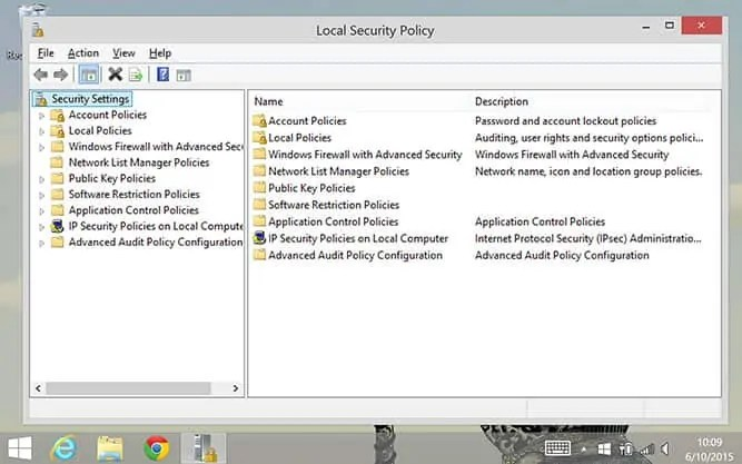 Security 8 Local Policy Home Windows