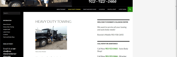 Client Profile – Ronnie's Wrecker Service