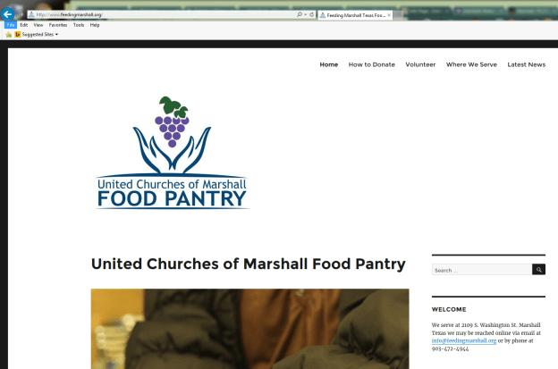 United Churches of Marshall Food-Pantry Portfolio-Interfaith Networking