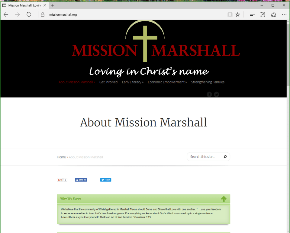 Mission Marshall Screen Shot Client of Interfaith Networking